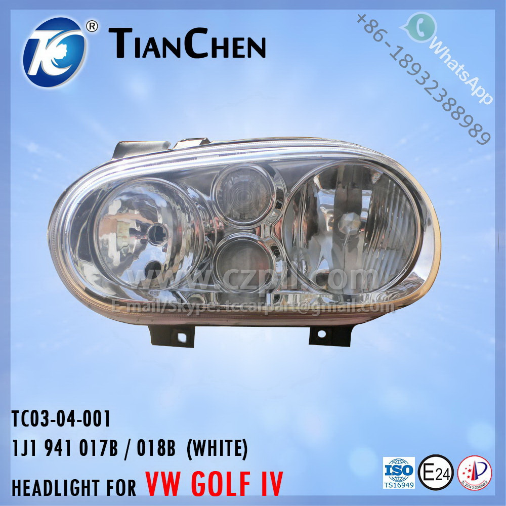 HEADLIGHT for GOLF 4 G4 1998 - 2002 WHITE 1J1 941 017 B / 018 B - 1J1941017B / 018B - 1J1941017 / 018