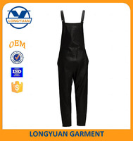 black synthetic leather overalls can be customized motorcycle leather overalls