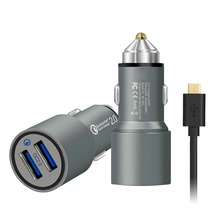 customized package 3.1 amp dual usb car charger