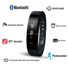 2016 Newest Bluetooth Smart Watch Custom Sports Fitness Monitoring Bracelet Silicone Bracelet Pedometer