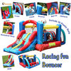 Happy Hop 9163--giant combo inflatable bouncer castle slide