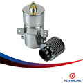 "PQY STORE-0.75L Baffled Aluminum Breather Tank / Oil Catch Can Tube 1/2"" NPT WITH FILTER PQY9480"
