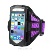 Cycling Mesh Arm Band Case Cover Cell Phone Pouch Sport Armband Mesh Case for iPhone 6S Plus for iPhone 6S