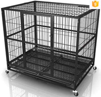 new design factory supplier galvanized pet dog crates with wheels