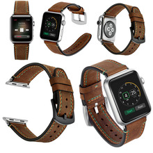 Classical Genuine Crazy Horse Brown Watch Leather Band for Apple Watch