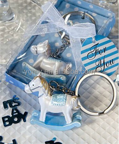 Baby shower party favor gift-- horse keychain for baby born gifts giveaways for guest