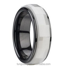 rings combination black and white ceramic rings costume jewelry wholesale fine