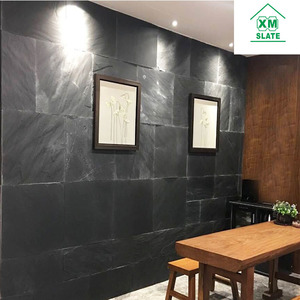 China Factory Direct Sales Cheap Natural Rectangle Dark Black Slate for Roofing Prices