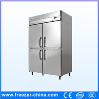 Commercial stainless steel freezer,four glass door two glass door refrigerator freezer