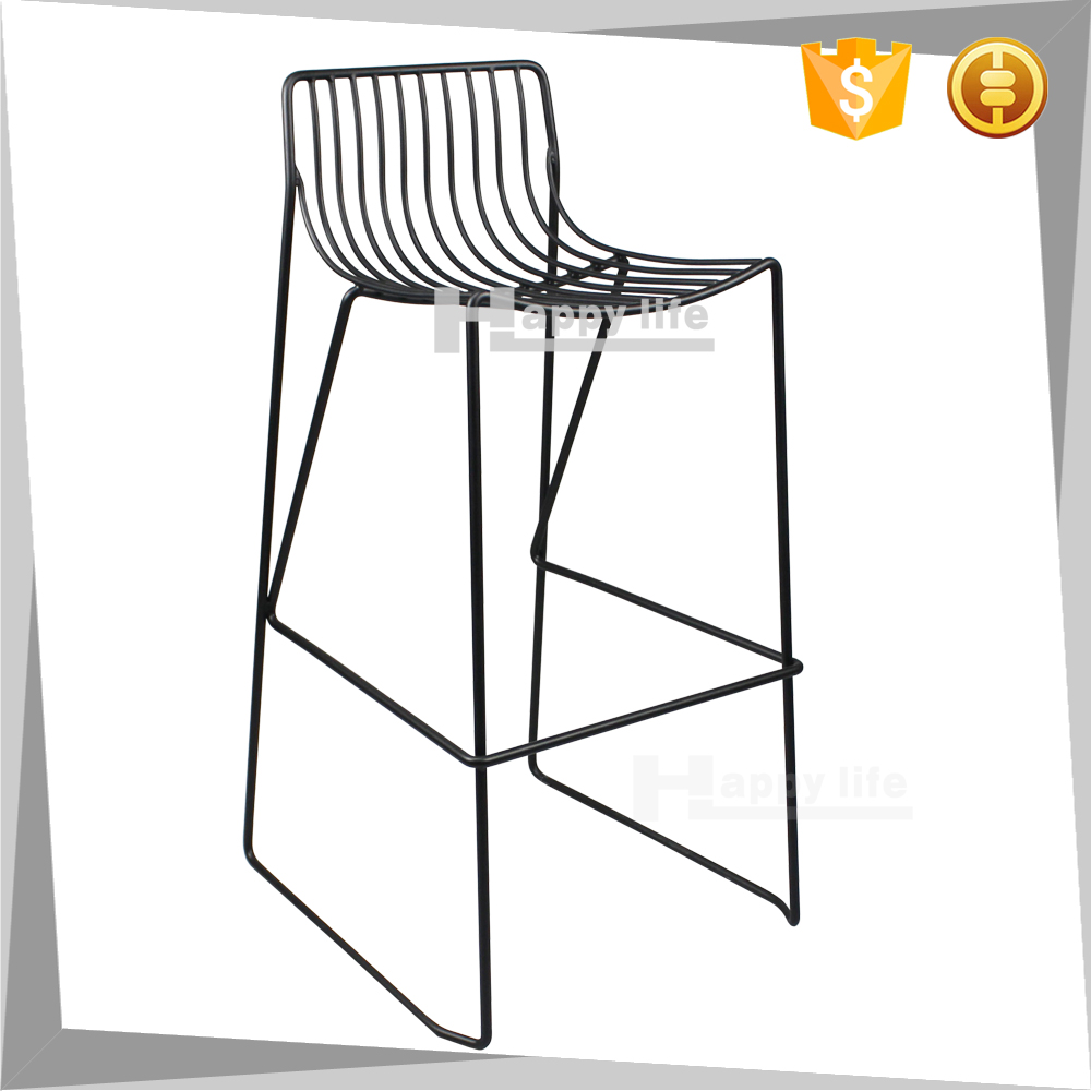 High quality industrial commercial wire metal bar stool