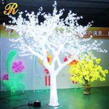 White lighted branch tree for Ramadan