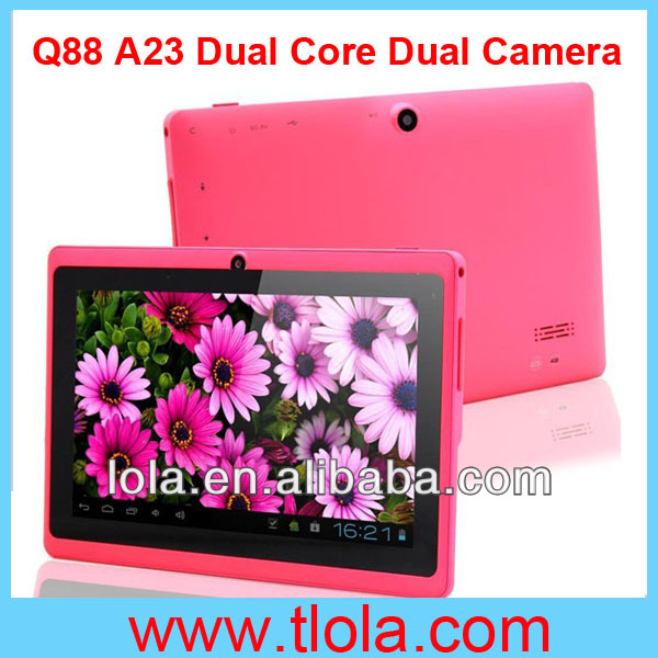 7 inch Q88 Tablets Dual Camera WIFI 3G Android 4.2 Dual Core A23 Cheap Price for School