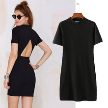Z92867A 2017 European New Fashion Sexy Backless Women Dress Latest Women Dress Without Dress Sexy Girls Photo