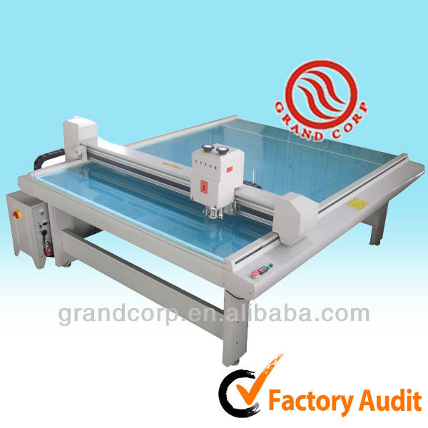 flatbed cutter table sample making machine
