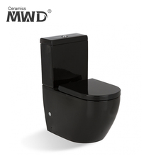 A3970-B 3/4.5L flushing black color two piece ceramic toilet with WaterMark certificartation