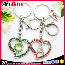 Factory direct sale alphabet letters key ring