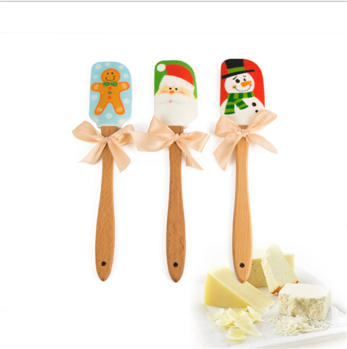 100% Food Grade Personalized Baking kitchen christmas gift best kids silicone spatula