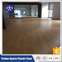 Cheaper price PVC wood sport flooring for gym court