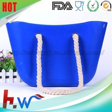 Customized waterproof fashion women silicone beach bag