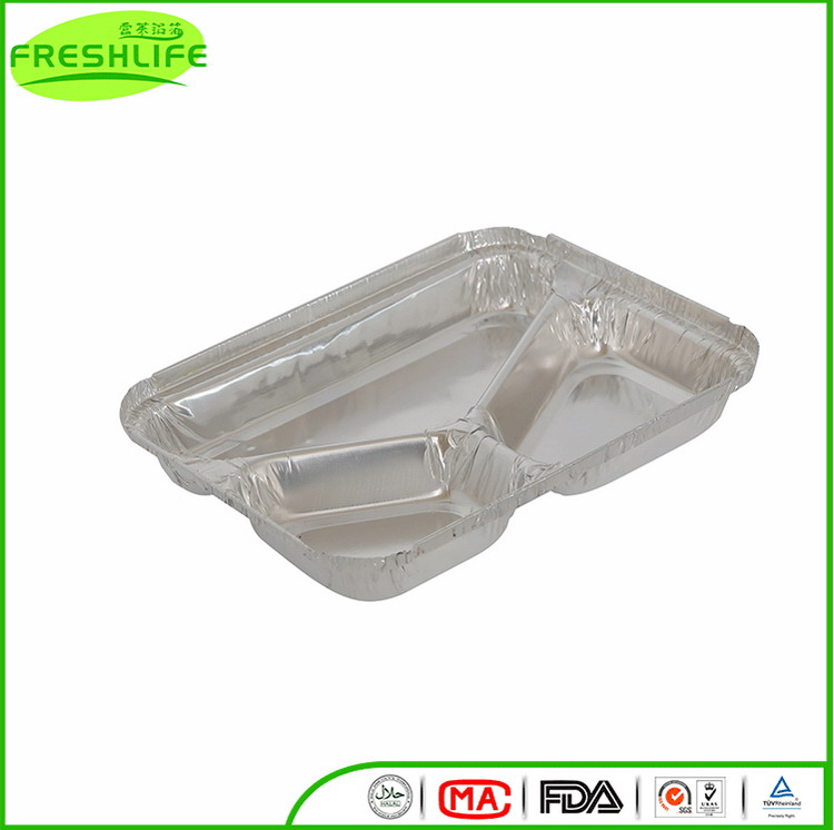 Top grade Compartment foil container disposable latest food aluminum foil tray