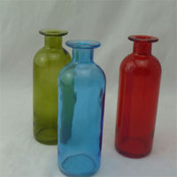 colorful floor clear glass urn vase