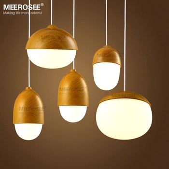 Wood Color Dining Room Pendant Light Modern Brief Pendant Light MD81769