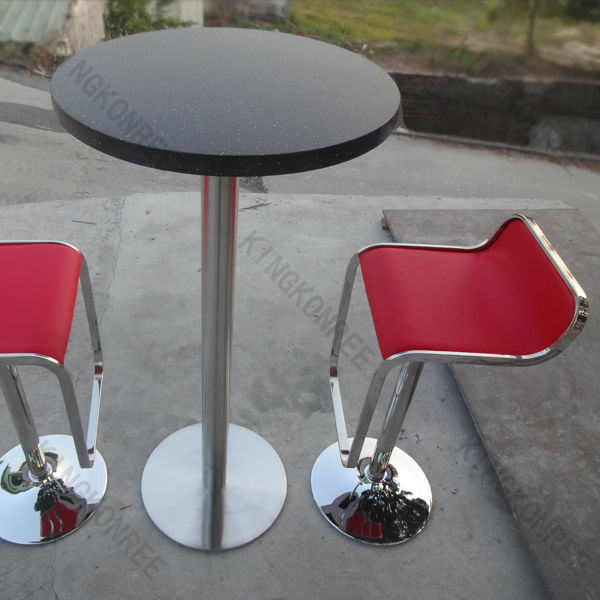 High acrylic solid surface top bar table and chair