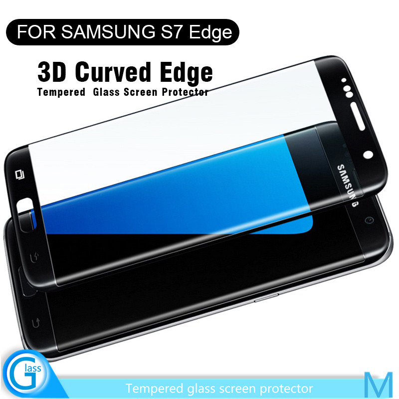 Newest 3D Full Cover Tempered Glass Invisible Sticker for Samsung Galaxy S7 edge