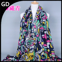 GDBS101 Infinity multifunctional turban viscose print religious scarves wholesale