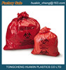red yellow biohazard waste bags PE medical waste bags