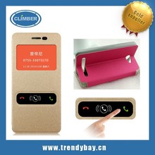 Window and Gold sand series stand leather flip cover case for Meizu note