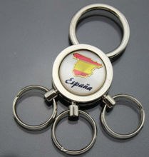 Metal blank keychain with 3 circles