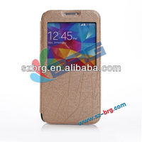 For Galaxy S5 Flip Leather Case With Window View Design, Soft Leather Case For Samsung