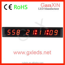 Mini 9 digit day countdown led electronic clock timer