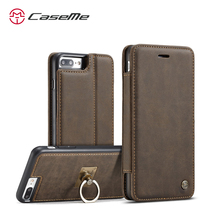 CaseMe Luxury Wallet Leather Case For iPhone 7S Magnetic Flip Cover 2 in 1 Simple Wallet Accessories