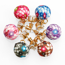 DIY Earring Charms, Fabric Ball Earring, Cloth Jewelry Accessories