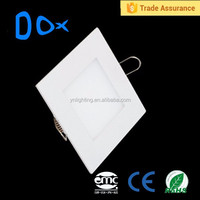 Trade assurance niche modern lighting aluminum AC85-265v 9w frameless led panel lighting square