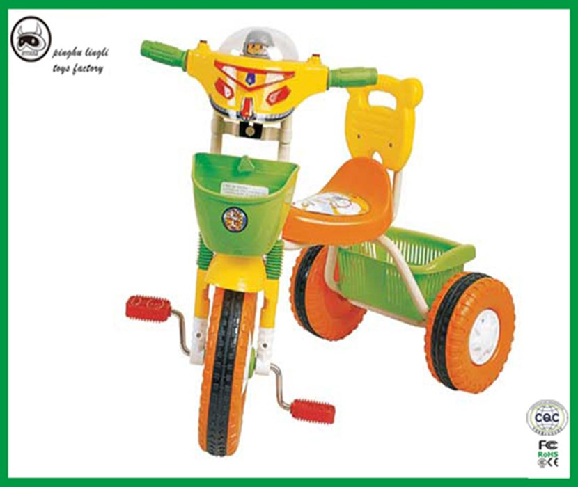 LL108S Pinghu Lingli baby tricycle 3 wheel trike car with high quality and cheap peice baby ride car