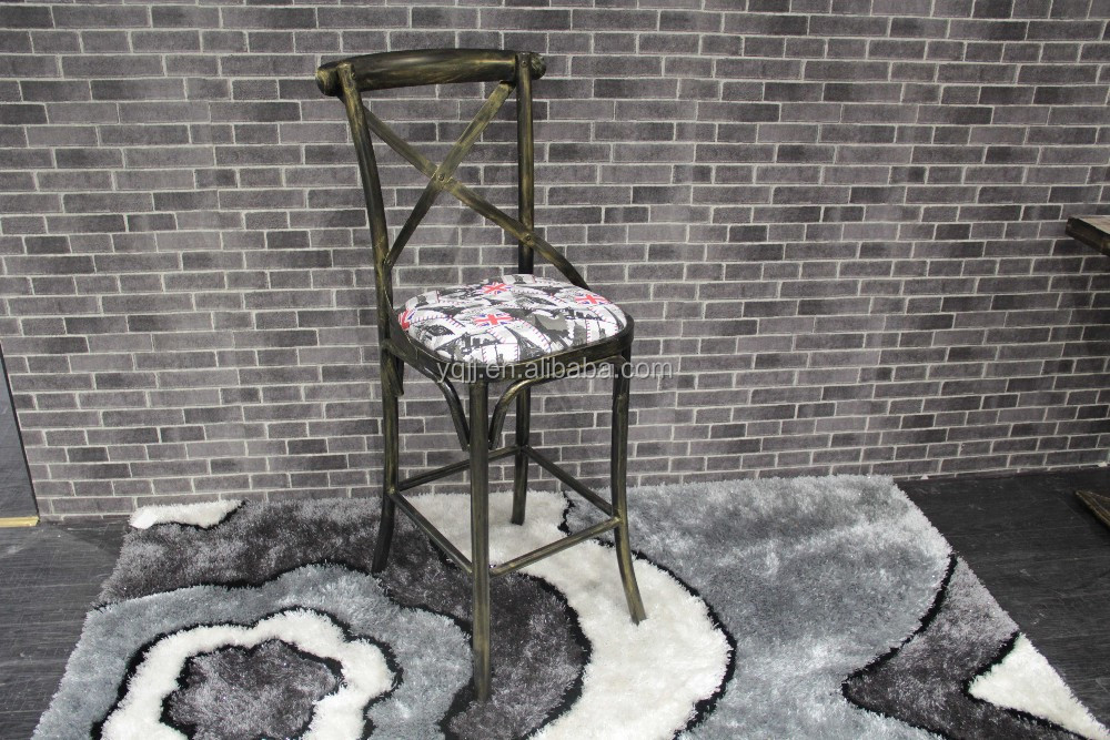 New design metal lounge x bar chair model