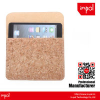 Premium hand-made real cork leather tablet case for ipad mini for natural lovers and custom design accepted