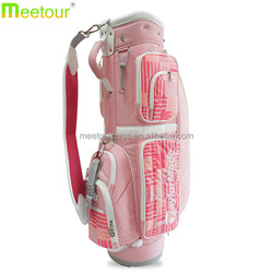 2016 hot sell golf stand bag Water resistant nylon golf bag Pink golf stand bags for ladies