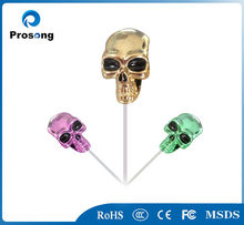 Gold high quality hot sell metal music player mp3 mp4 skull earphones