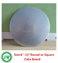 "Silver Cake Board Circle 6""--13""Inch Diameter Give an Elegant Touch to Your Cakes"