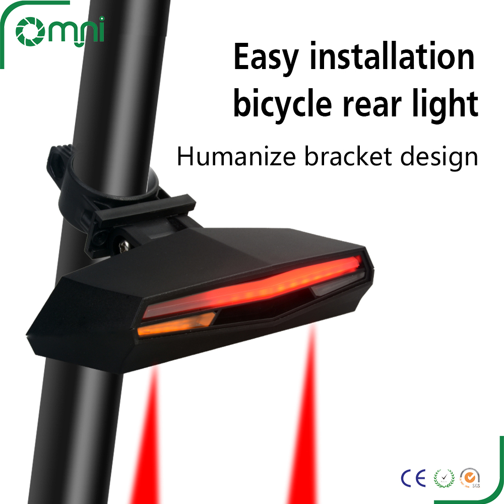 CE ROHS approved road bike mountain bicycle rear tail back LED light