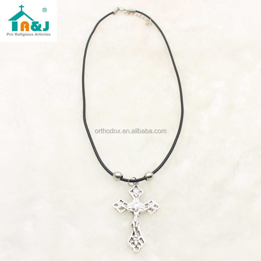 Beautiful cross cord pendant