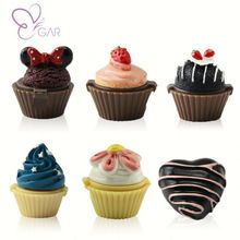 lip balm container or lipstick bottle or lipgloss Hot sale!6colors Cute Cupcake Lip gloss