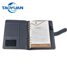 Executive use a5 metal 6 ring binder notebook cover file folder