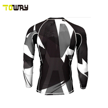 sublimation custom compression shirt manufacturer