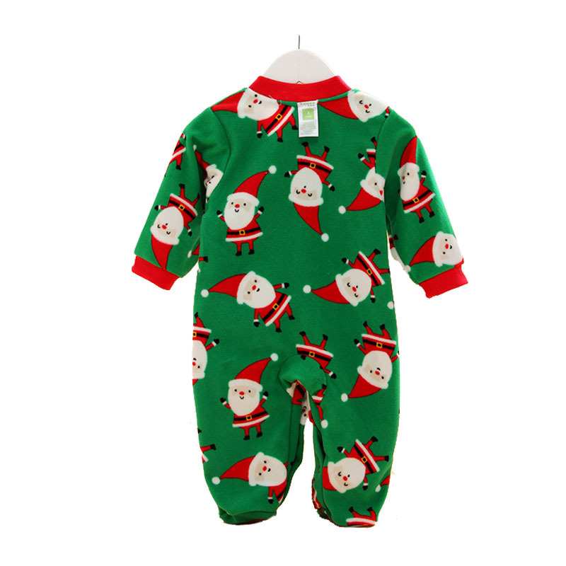 2015 Spring Baby long-sleeved fleece jumpsuit Romper climb Santa Claus suit snowsuit coveralls for newborns funny baby clothes