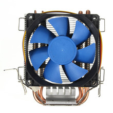 Free Ship 80mm CPU Heatsink Cooling Fan CPU Cooler 2 Heatpipes Radiator Cooling CPU Aluminum Fan Intel LGA775/1155/1156AMD754